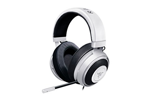 - Razer Kraken Pro V2: Lightweight Aluminum Headband - Retractable Mic - In-Line Remote - Gaming Headset Works with PC, PS4, Xbox One, Switch, & Mobile Devices - White