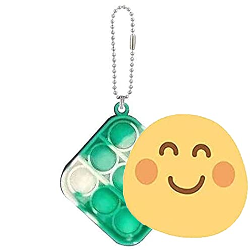 Simple Fidget Toy Mini Stress Relief Hand Toys Keychain Toy Bubble Wrap Pop Anxiety Stress Reliever Office Desk Toy for Kids Adults (Tie dye Green)