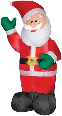 Gerson Company 1822050 Santa Inflatable Lights, 4-Feet