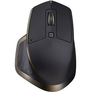 Logitech MX Master Wireless Mouse - Use on Any Surface, Ergonomic Shape, Hyper-Fast Scrolling, Rechargeable, for Apple Mac or Microsoft Windows Computers, Meteorite