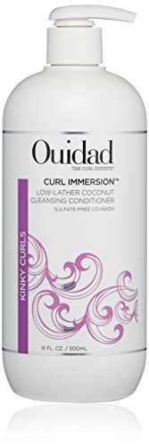 OUIDAD Curl Immersion Low-Lather Coconut Cleansing Conditioner, 16 Fl Oz
