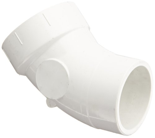 Spears P323 Series PVC DWV Pipe Fitting, 1/8 Bend, Elbow, 1-1/2