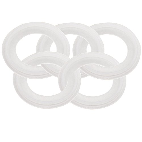 Dernord Silicone Gasket Tri-clover (Tri-clamp) O-Ring - 1.5 Inch ( Pack of 5 )