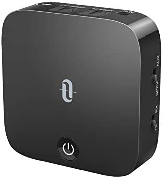 TaoTronics Bluetooth 5.0 Transmitter and Receiver, Digital Optical TOSLINK and three.5mm Wireless Audio Adapter for TV/Home Stereo System - Low Latency