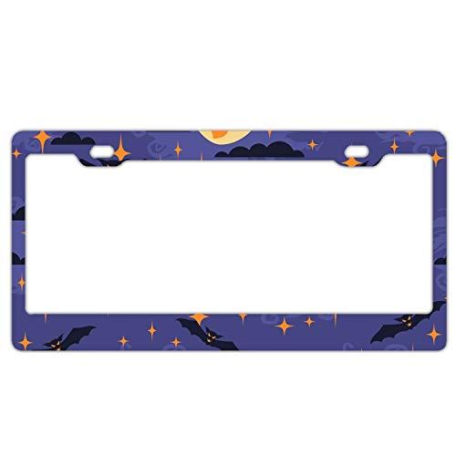 doormatscool Good Night Halloween License Plate Frame £¨Aluminum£ ()