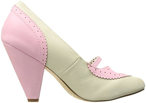 cream Femme Faux Fermé Couture Bout 18 Pin Escarpins Up Poppy B Pink Leather xAqSwxZv