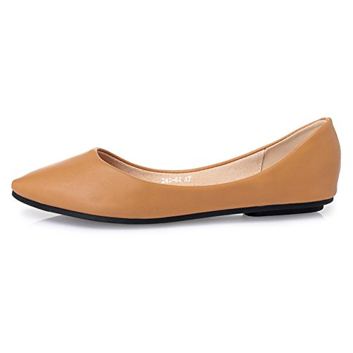 Casual Comfort Flat Shoes Pointed Women's 62 Cute Camel Ballet Toe jessi Maiernisi w0S8qFZS