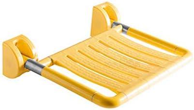 バススツールウォールマウントウォールはアンチスキッド、強力なベアリングの強度と安定したパッセージ議長タブ安全スツール、浴室のシャワースツールシャワーチェアシートが高齢者、障害者、肥満、負傷に使用することができマウント (Color : 黄)
