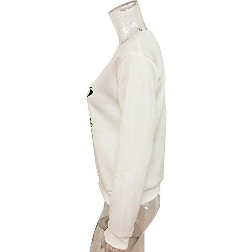 Zerlar Damen Baumwoll O-Neck Nettes Einhorn Langarm T-Shirt Tops Pullover