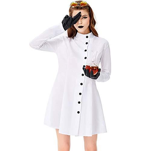 WYY-MY Disfraz de científico Loco de Halloween para Mujer Disfraz ...
