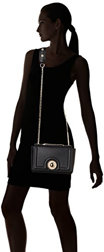 Versace Jeans , Borsa a Tracolla Donna, Nero, 9x16x22 cm (W x H x L)