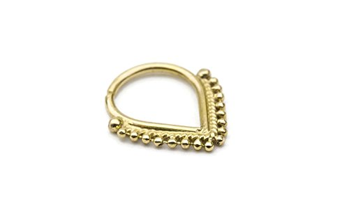 Body Jewelry Pierce Eyebrow Ring - Septum Ring: Solid 14k Gold 20g-14g Septum / Ear Piercings Jewelry.