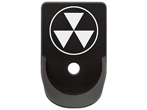 Magazine Base Plate for Glock Gen 1-5 Finger Extended 9MM .357 .40 NDZ Black Fallout Shelter Symbol Semi Solid