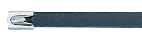 Panduit MLTFC4H-LP316 Pan-Steel Polyester Fully Coated Cable Tie, Heavy Cross (Steel Cross Section)