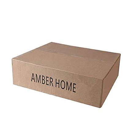 Amber Home Solid Gugertree Deluxe Wooden Pants Hangers Bottom Hanger Jeans Hanger Skirt Hanger Walnut Color with 2-Adjustable Clips Anti-Rust Hook 10 Pack