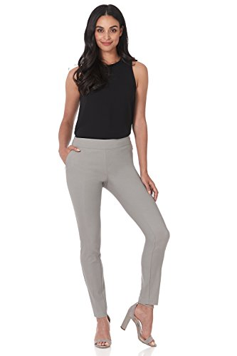 Rekucci Women's Ease in to Comfort Modern Stretch Skinny Pant w/Tummy Control (10,Silver) by Rekucci (Image #3)