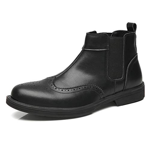 DANDANJIE Scarpe Da Uomo Martin Stivali Mocassini Intagliato Inghilterra Stivali Stile Black