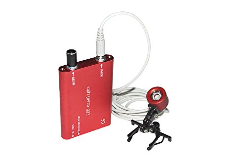 Careshine Portable Head Light Lamp with Clip for Dental Surgical Medical Binocular Loupe Dental Loupes Headlight Red by Careshine (Image #2)
