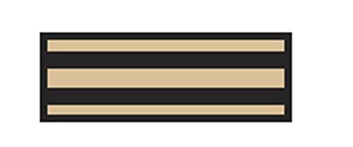 Aspen Surgical 153012EEA I.D. Sheet Tape, Stripe, 8 1/2'' x 11'', Black on Beige by Aspen Surgical