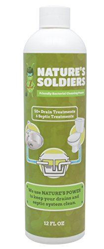 Drain Cleaner and浄化槽Treatment。セーフ天然酵素。強力な細菌。Nature 's Soldiers。 12 oz ホワイト B01N6WSG1C  12 oz
