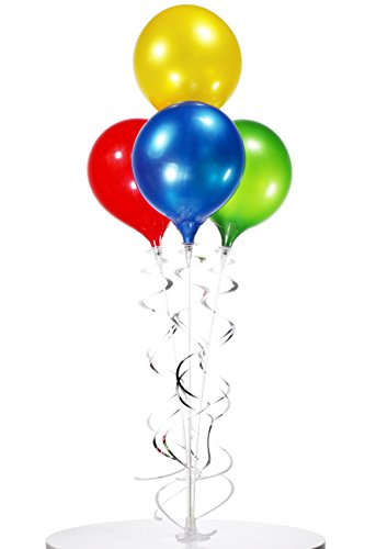 PermaShine - Reusable and Helium Free Balloon Bouquet - Permanent Plastic Indoor and Outdoor Balloons]()