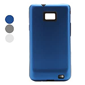 Gt Back and Silica Frame Aluminum Case for Samsung i9100 (Assorted Colors) , Gray