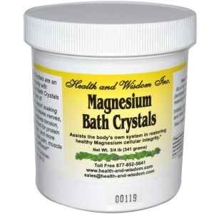 Magnesium Bath Crystals, 3/4 lb (341 g) by Health and Wisdom ()