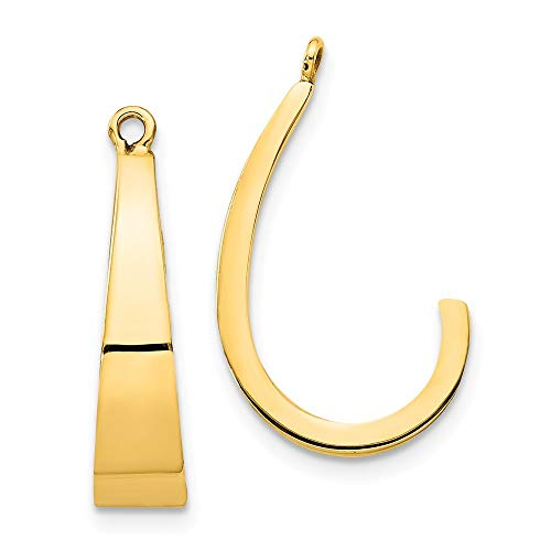 Roy Rose Jewelry 14K Yellow Gold Polished J-Hoop Earring Jackets ()