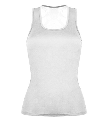 Para Sin Comfiestyle Mangas Blanco Camiseta Mujer qzHtxgF
