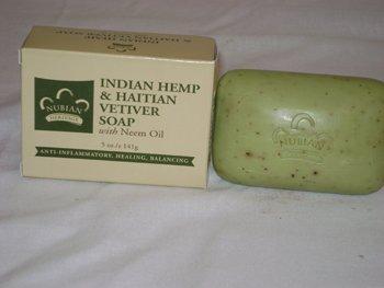 Bar Soap, Indian Hemp, 5 oz ( Four Pack)