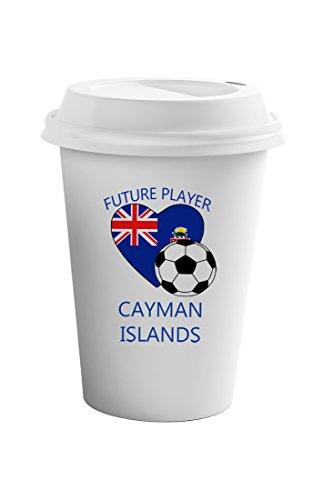 Cayman Travel Tumbler - Style In Print Future Soccer Player Cayman Islands Coffee Ceramic Travel Tumbler Mug 11oz