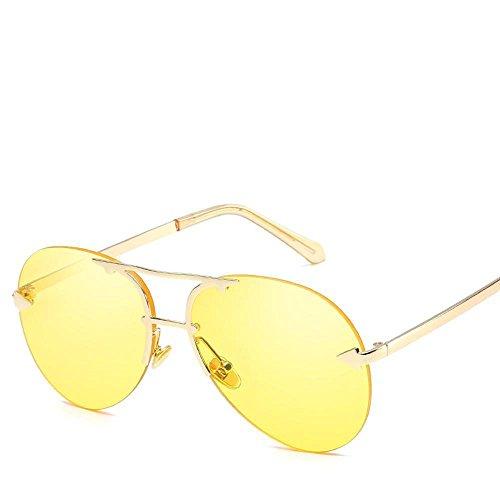 Aoligei Européens et américains sans frame Ocean film lunettes de soleil pilote flèche shing lunettes de soleil PmRGgh