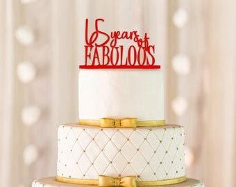 Decoración para tarta de 65 años de fabulosos cumpleaños 65 ...