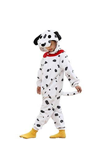 kuki Girls and Boys Dog Pajamas Soft Fleece Halloween Costume (10-12 Years) ()