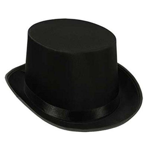 Mememall Fashion Satin Sleek Tuxedo Top Hat Rim President Lincoln Cap Costume Party Accessory Lot (Funky Tuxedo Adult Men Costume)