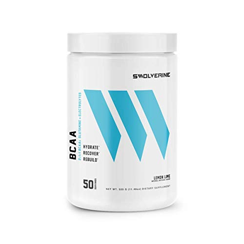 BCAA 2:1:1 | Branched Chain Amino Acids, Electrolytes, L-Glutamine, Hydration & Recovery Formula, Lemon-Lime (50 Servings)