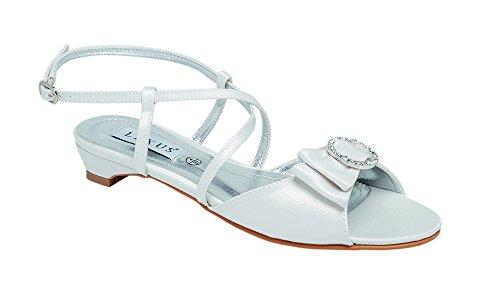 avorio con sposa da scarpe bordo in incrociato Tacchi e avorio cinturini Lexus con per strass fiocco gIxPz