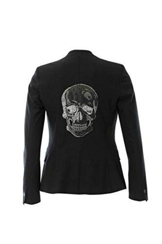 HIPCHIK Crystal Skull Basic Black Blazer