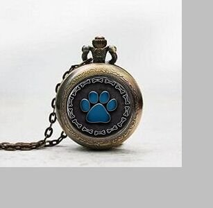 Charm Silver Chain Ladies Watch (Paw Print Pendant Pocket Watch ,Dog Bone Border Silver Plated with Chain Black or Blue Necklace Pocket Watch Charm,dog Bone Border Silver Plated with Chain Black or Blue Pendant Pocket Watch Glass Tile Jewelry,glass Dog Bone Border Silver Plated with Chain Black or Blue Watch,dog Bone Border Silver Plated with Chain Black or Blue Photo)
