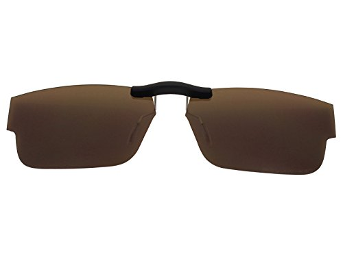 Custom Fit Polarized CLIP-ON Sunglasses For Oakley Airdrop (51) OX8046 51X18 Brown by COODY