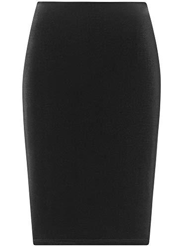 Jupe oodji Droite Velours Noir Coupe 2900n Collection Femme en S4nBP4