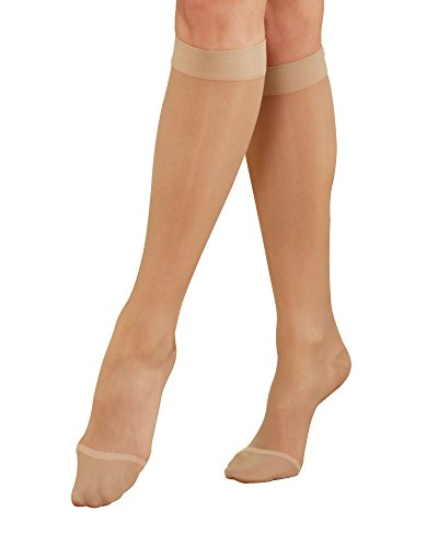 Knee Natural High (National Wide Calf Therapeutic Support Knee High, Natural, X-Large, 3-pk - Wide Calf Moderate)