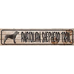 Losea Anatolian Shepherd Trail Street Sign- Vintage Retro Metal Tin Sign - Great for Man Caves, Garage Art, and Home Decor 17