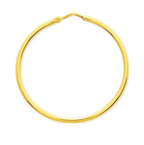 UMA - Anneaux - Boucles d'oreilles - Créoles - Or Jaune - Or 18 carats - Diamètre - 35 mm - Epaisseur - 1.8 mm - www.diamants-perles.com