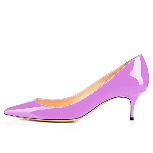 Robe à Aiguille Chaussures de Chaussures centimètres Bout Cuir Bureau Talon Rose soirée Pointu de 6 en Maguidern Verni 5 Pompes Tqn7pWZz1