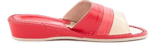 Zoccoli Aperte Rosso Donna Pantofole Ladeheid Scarpe Ciabatte LABR78 Wqx6g6vp4