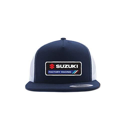 Factory Effex Suzuki Factory Trucker Hat (Navy/White)