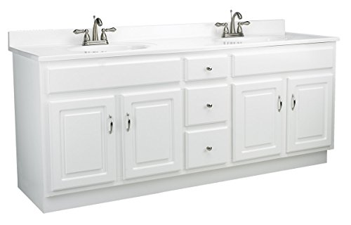 Design House 541086 72-Inch by 21-Inch Concord Ready-To-Assemble 4 Door/3 Drawer Vanity, White