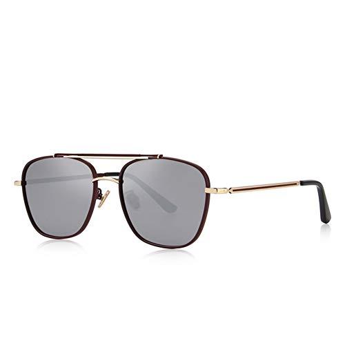 Sunglasses De Cuadradas uv Red Moda Polarizadas Para Wine Hombre Gafas Anti Defjqqpl Sol dgpdq