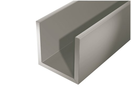 GAH-Alberts 432843 U-Channel - Smooth, Steel, 1000 x 20 x 20 mm